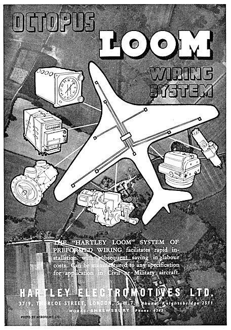 Hartley Electromotives. LOOM. Aircraft Preformed Wiring Looms