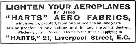 Lighten Your Aeroplanes By Using Harts Aero Fabrics