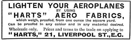 Lighten Your Aeroplane By Using Harts Aero Fabrics