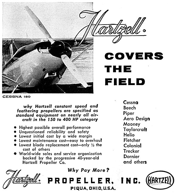 Hartzell Propellers 1957