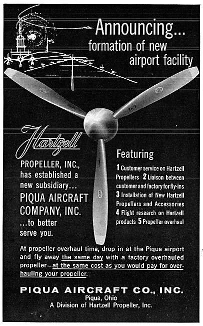 Hartzell Propellers - Piqua Aircraft Co. Ohio