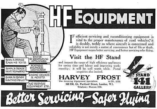 Harvey Frost Aircraft Servicing Tools & Equipment 1929