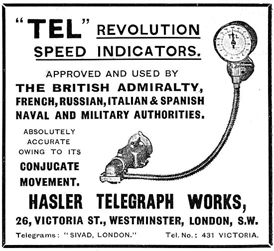 Hasler Telegraph Works - TEL Revolution Speed Indicators