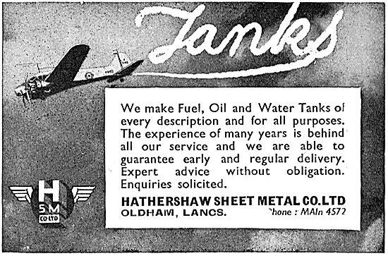 Hathershaw Sheet Metal. Aircraft Sheet Metalwork