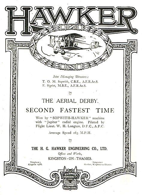 Aerial Derby Sopwith-Hawker