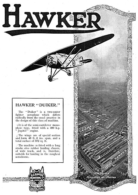 Hawker Duiker 1924 Advert