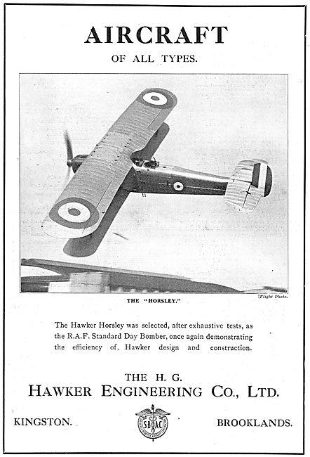 Hawker Horsley Day Bomber Aircraft