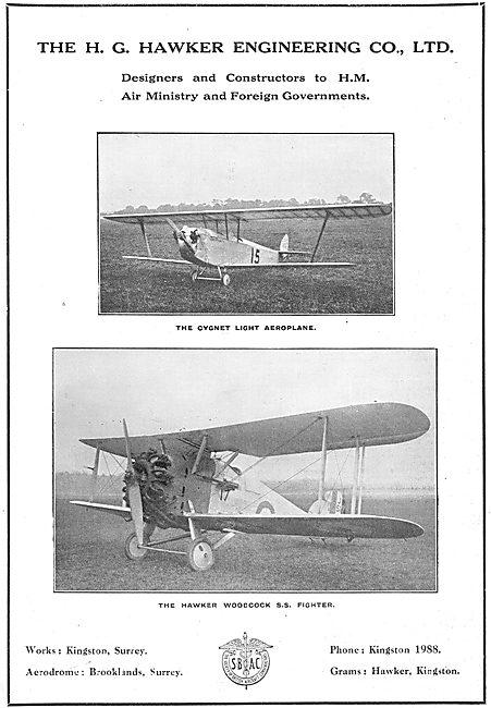 Hawker Cygnet Light Aeroplane