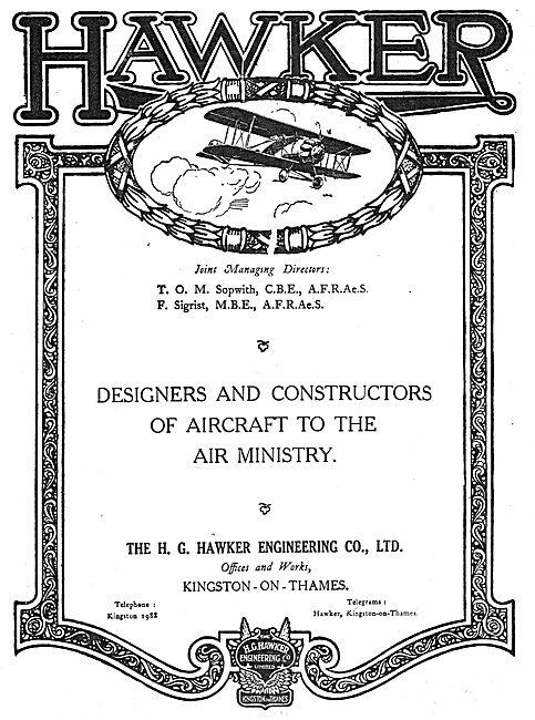 Hawker Aircraft. Kingston-Upon-Thames