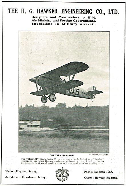 Hawker Hornbill Single Seat Fighter Aircraft