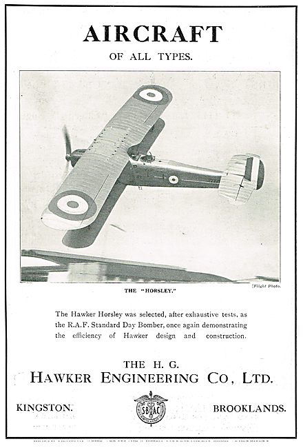 Hawker Horseley RAF Day Bomber