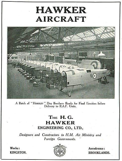A Batch Of Hawker Horseley Day Bombers Ready For Erection