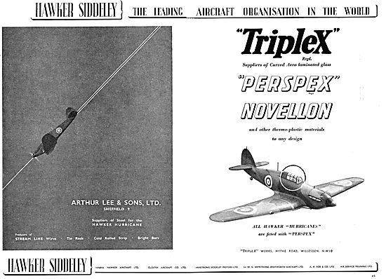Hawker Siddeley - Arthur Lee - Triplex - Perspex Novellon