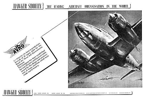 Hawker Siddeley : A.V.Roe. AVRO
