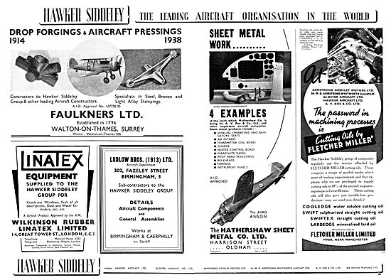 Hawker Siddeley : Faulkeners Ltd : Wilkinson Rubber Linatex Ltd
