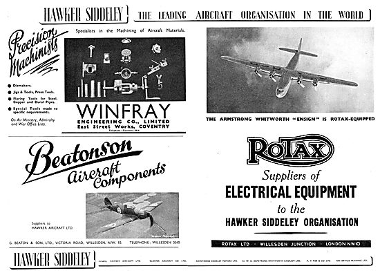 Hawker Siddeley : Winfray Engineering Co Ltd