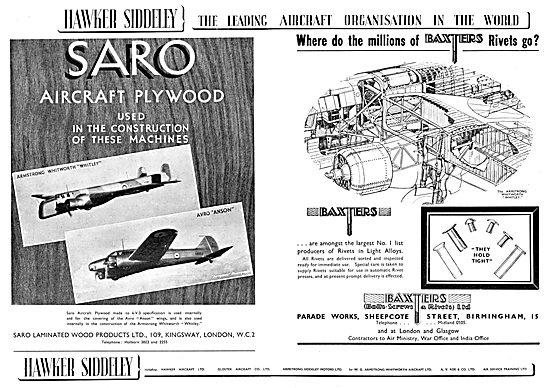 Hawker Siddeley : SARO Laminated Wood Products Ltd
