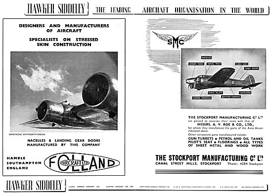 Hawker Siddeley : Folland Aircraft Ltd