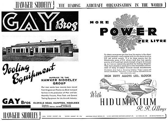 Hawker Siddeley : Gay Bros : High Duty Alloys Ltd