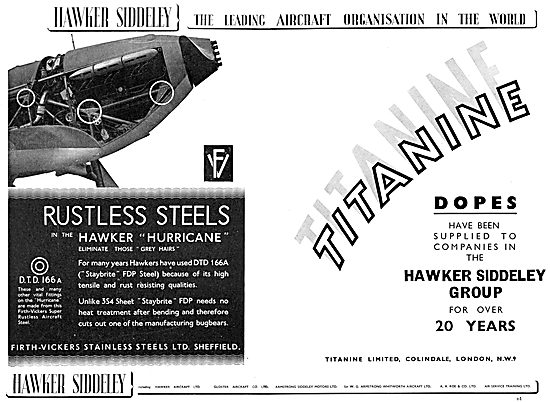 Hawker Siddeley : Firth-Vickers Stainless Steels Ltd
