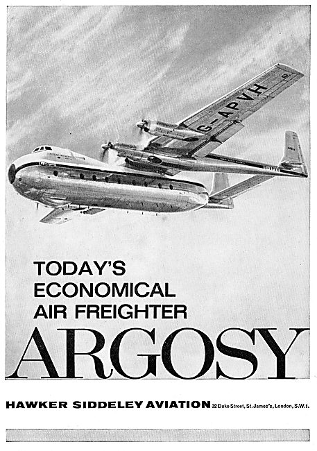 Hawker Siddeley  Armstrong Whitworth Argosy - Freighter