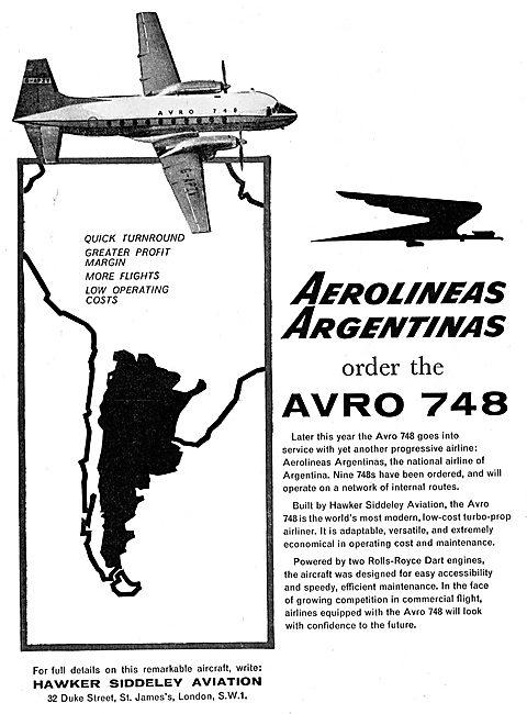Hawker Siddeley Avro 748: Aerolineas Argentinas