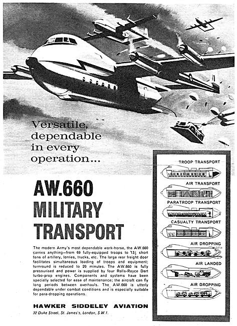 Armstrong Whitworth Argosy A.W.600 - Hawker Siddeley