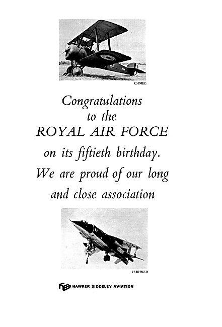 Hawker Siddeley Celebrate RAF's 50th