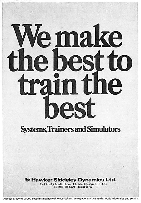 Hawker Siddeley Flight Simulators & Procedures Trainers