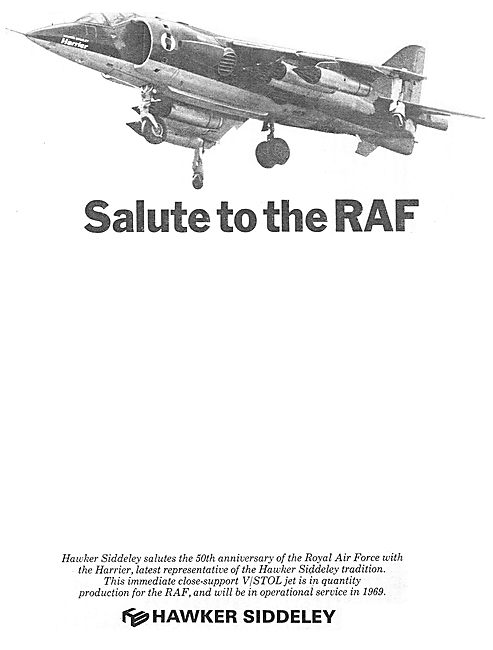 Hawker Siddeley Salute To The RAF. (50th Anniversary)