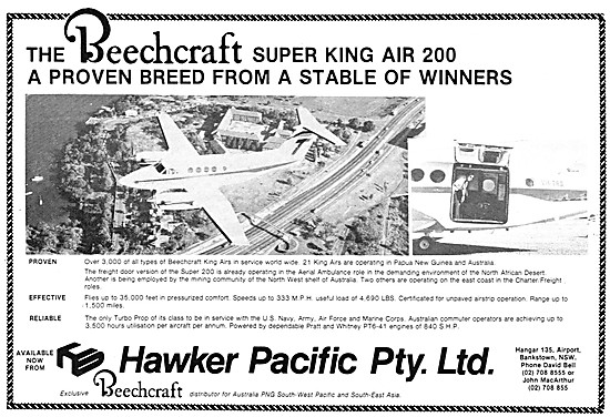 Hawker Pacific Bankstown NSW - Beechcraft Sales & Service