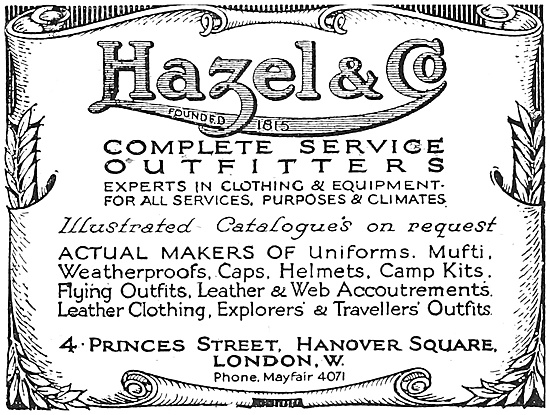 Hazel & Co Service Outfitters 1916