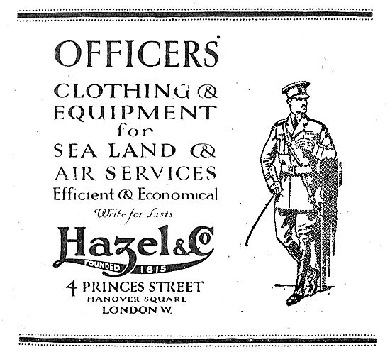 Hazel & Co Officers Clothing For Sea, Land Or Air Services