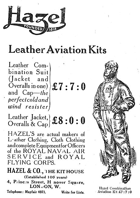Hazel & Co Leather Aviation Kits For RNAS & RFC Aviators
