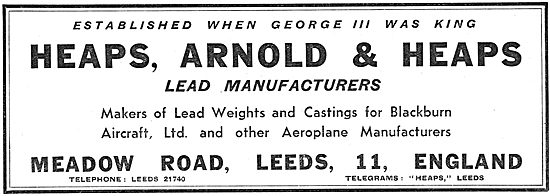 Heaps, Arnold & Heaps Lead Manufacturers