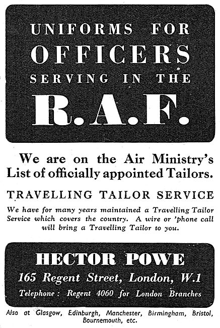 Hector Powe -  Uniforms For Officers Serving In The RAF