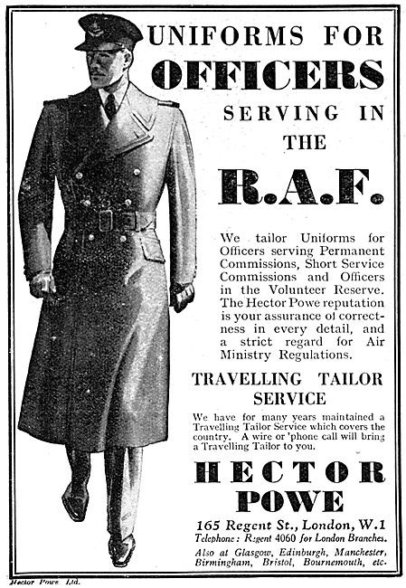 Hector Powe RAF Uniforms For Officers 1938