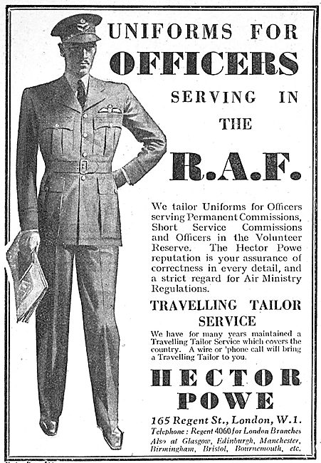 Hector Powe RAF Officers Uniforms