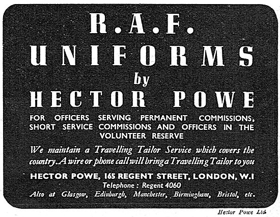 Hector Powe - RAF Officers Uniforms