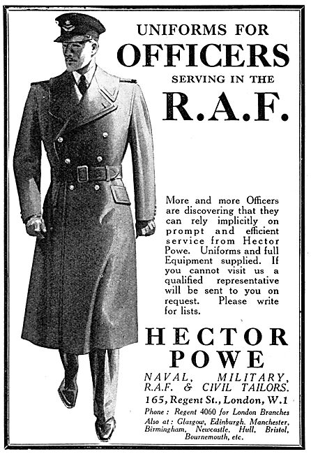 Hector Powe RAF Tailors - RAF Uniforms 1939