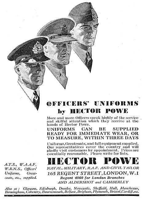 Hector Powe - RAF Officers' Unforms