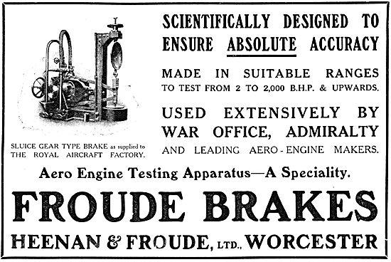 Heenan & Froude Aero Engine Testing Apparatus