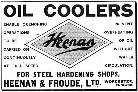 Heenan & Froude Dynamometers & Oil Coolers For Steel Hardening