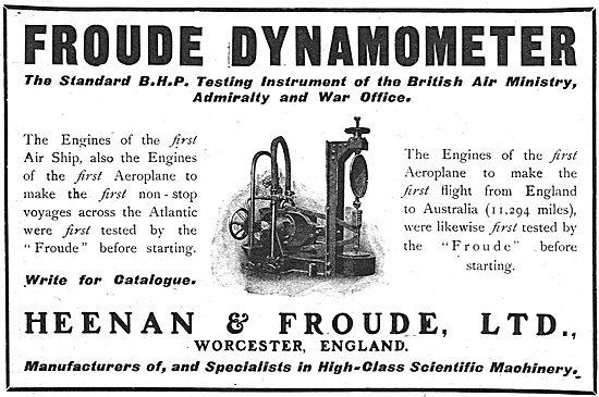 Heenan & Froude Dynamometer - The Standard BHP Testing Instrument