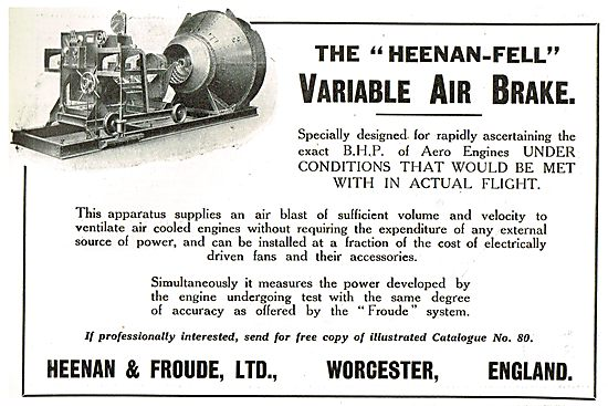 Heenan-Fell Variable Air Brake Dynamometer