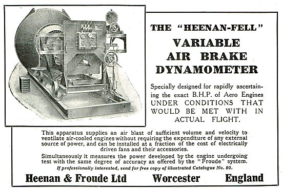 Heenan & Froude Variable Airbrake Dynamometers