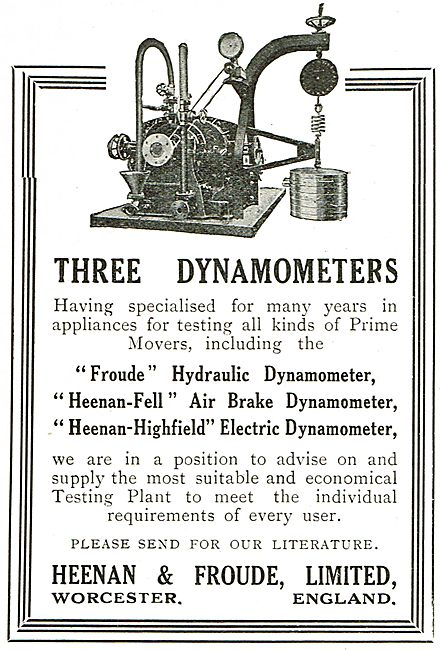 Heenan & Froude Dynamometers