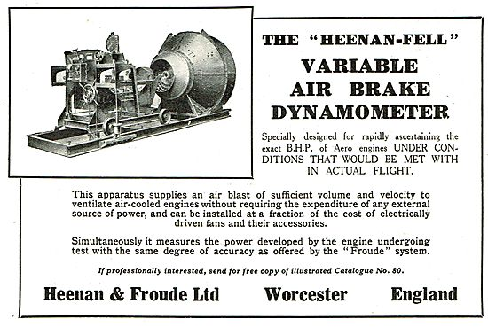 Heenan & Froude Variable Air Brake Dynamometer