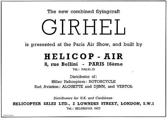 Helicopter Sales Helicop-Air Girhel Combined Flying Craft