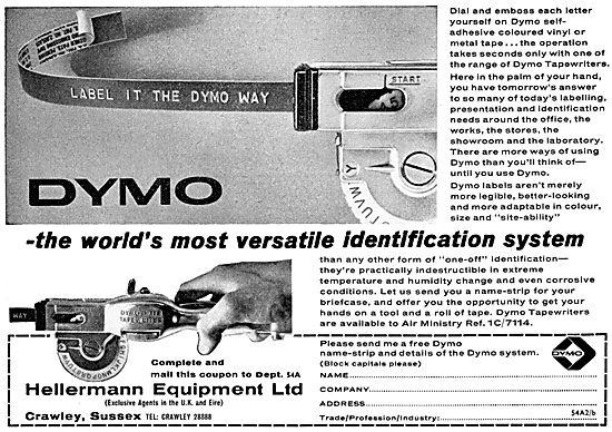 Hellermann Equipment Ltd - UK Agents For DYMO Labelling System